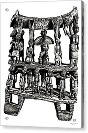 African Tribal Seat  Acrylic Print by Adendorff Design