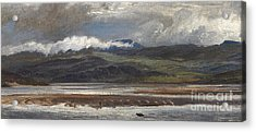 After Rain Acrylic Print by Henry Moore