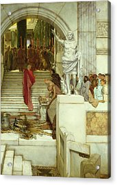 After The Audience Acrylic Print by Sir Lawrence Alma-Tadema