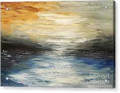 Acrylic Print featuring the painting After The Deluge by Tatiana Iliina