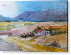 After The Harvest On The Winefarm Acrylic Print