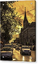 After The Rain Acrylic Print by Michael Wessel