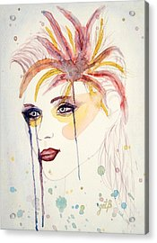 After The Show Watercolor On Paper Acrylic Print by Georgeta  Blanaru