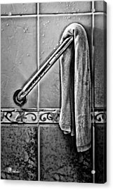 After The Shower - Bw Acrylic Print by Christopher Holmes