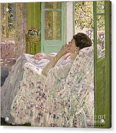 Afternoon - Yellow Room Acrylic Print by Frederick Carl Frieseke
