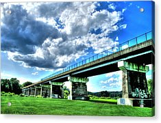 Afternoon By The Bridge 1 Acrylic Print by Heather  Boyd