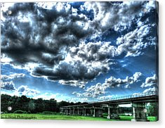 Afternoon By The Bridge 2 Acrylic Print by Heather  Boyd
