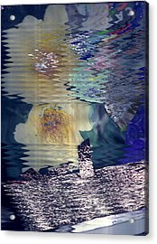 Afternoon Day Dream Collage Acrylic Print by Anne-Elizabeth Whiteway