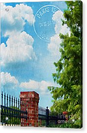 Afternoon In Paris Acrylic Print by Judi Bagwell