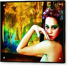 Acrylic Print featuring the digital art Afternoon Of A Wood Nymph by Mary Morawska