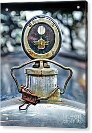 Aged Boyce Moto-meter With Added Paper Clip Acrylic Print by Kaye Menner