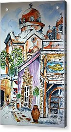 Acrylic Print featuring the painting Agia Marina by Therese Alcorn
