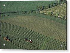 Agricultural Aerial View Acrylic Print by Kenneth Garrett