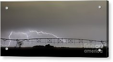 Agricultural Irrigation Lightning Bolts Acrylic Print by James BO  Insogna