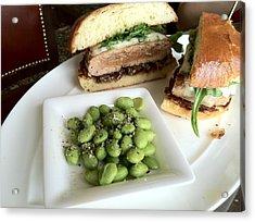 Ahi Tuna Sandwich At Pebble Beach Acrylic Print by GuitarGeeks Photography