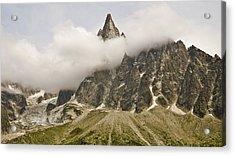 Aiguille Du Dru In Mont Blanc Massif Acrylic Print by David Pérez