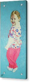 Aimee Acrylic Print by Peter Edward Green