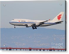 Air China Airlines Jet Airplane At San Francisco International Airport Sfo . 7d12272 Acrylic Print by Wingsdomain Art and Photography