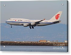 Air China Airlines Jet Airplane At San Francisco International Airport Sfo . 7d12273 Acrylic Print by Wingsdomain Art and Photography