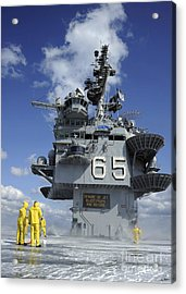 Air Department Sailors Test Acrylic Print by Stocktrek Images