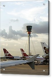 Air Traffic Control Tower, Uk Acrylic Print by Carlos Dominguez