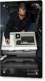 Air Traffic Controller Records Incoming Acrylic Print