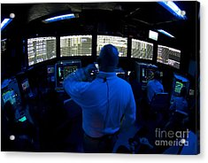Air Traffic Controller Watches Acrylic Print by Stocktrek Images