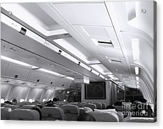 Aircraft Cabin View Acrylic Print by Yali Shi
