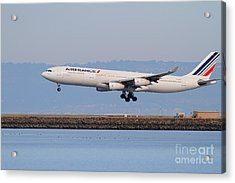 Airfrance Airlines Jet Airplane At San Francisco International Airport Sfo . 7d12223 Acrylic Print by Wingsdomain Art and Photography