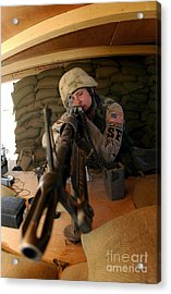 Airman Mans An M-60 Machine Gun Acrylic Print