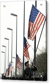 Airman Posts A New Flag On The Main Acrylic Print by Stocktrek Images