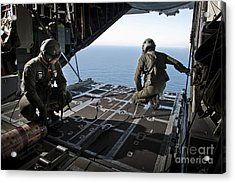 Airmen Wait For The Signal To Deploy Acrylic Print by Stocktrek Images