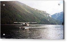 Airplane On Lake Acrylic Print
