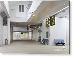 Airport Concourse Acrylic Print by Jaak Nilson