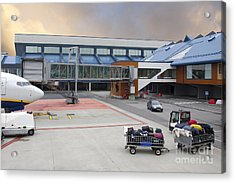 Airport Gate Arrival Acrylic Print by Jaak Nilson