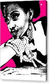 Aisha Pink Acrylic Print