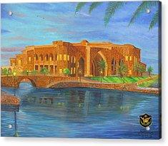 Al Faw Palace Acrylic Print by Michael Matthews