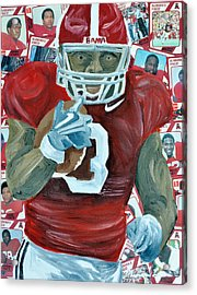 Alabama Running Back Acrylic Print by Michael Lee