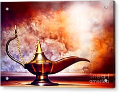 Aladdin Lamp Acrylic Print by Olivier Le Queinec