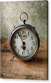 Alarm Clock Acrylic Print by Jill Battaglia