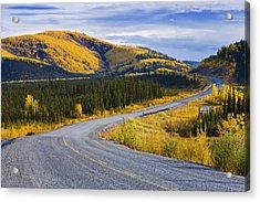 Alaska Highway Near Beaver Creek Acrylic Print by Yves Marcoux