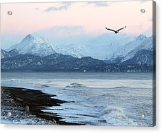 Acrylic Print featuring the photograph Alaskan Beach At Sunset by Michele Cornelius