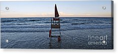 Acrylic Print featuring the photograph Alassio Sunset Facing East by Andy Prendy