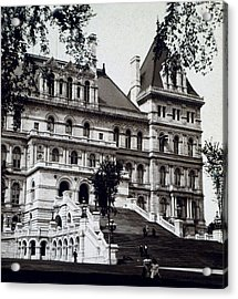 Albany New York - State Capitol Building - C 1903 Acrylic Print by International  Images