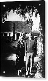 Albert And Elsa Einstein Acrylic Print by Science Source
