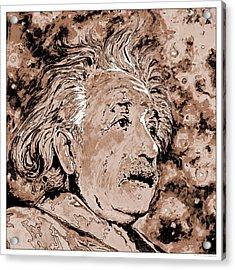 Albert Einstein Acrylic Print by Detlev Van Ravenswaay