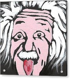 Albert Einstein Acrylic Print by Jera Sky