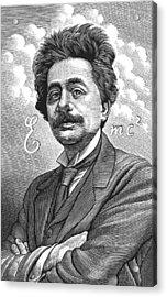 Albert Einstein, Physicist Acrylic Print by Bill Sanderson