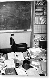 Albert Einsteins Study At The Institute Acrylic Print by Everett