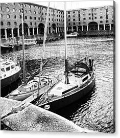 #albertdock #liverpool #harbor #boat Acrylic Print